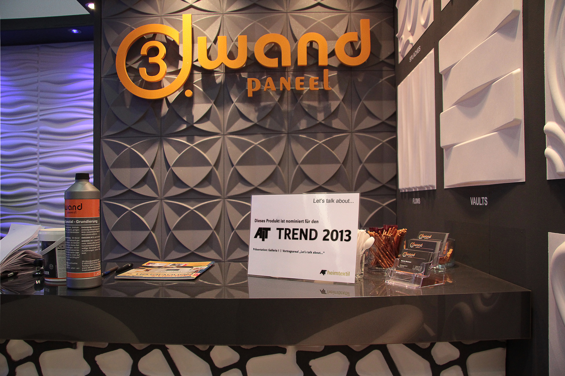 3D Wandpaneele - AIT TREND 2013 - Innovationspreis