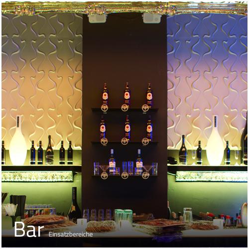 3D Wandpaneele - Einsatzbereich Gewerbe - Bar - Deckenpaneele - 3D Tapeten