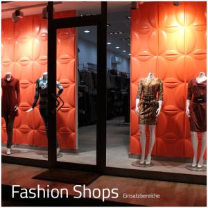 3D Wandpaneele - Einsatzbereich Gewerbe - Fashion Shops - Deckenpaneele - 3D Tapeten