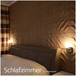 3D Wandpaneele - Einsatzbereich Privat - Schlafzimmer - Deckenpaneele - 3D Tapeten