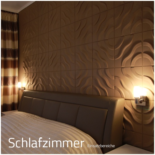 3D Wandpaneele - Einsatzbereich Privat - Schlafzimmer ...