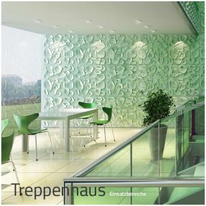 3D Wandpaneele - Einsatzbereich Privat - Treppenhaus - Deckenpaneele - 3D Tapeten