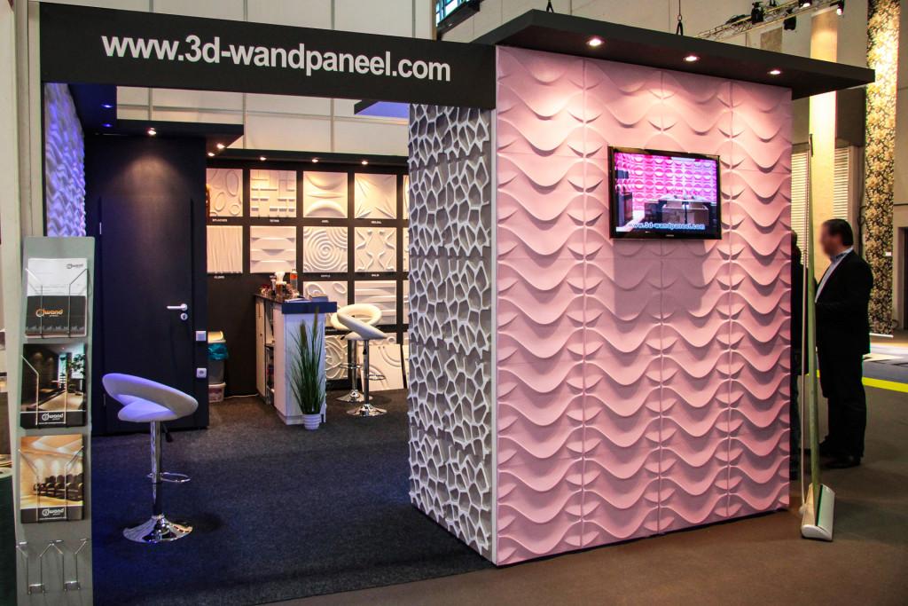 3D Wandpaneele - Heimtextil Messe - Deckenpaneele - 3D Tapeten