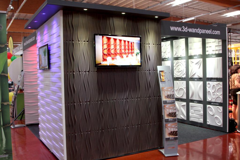 3D Wandpaneele - Messe Bad Salzufflen - Deckenpaneele - 3D Tapeten