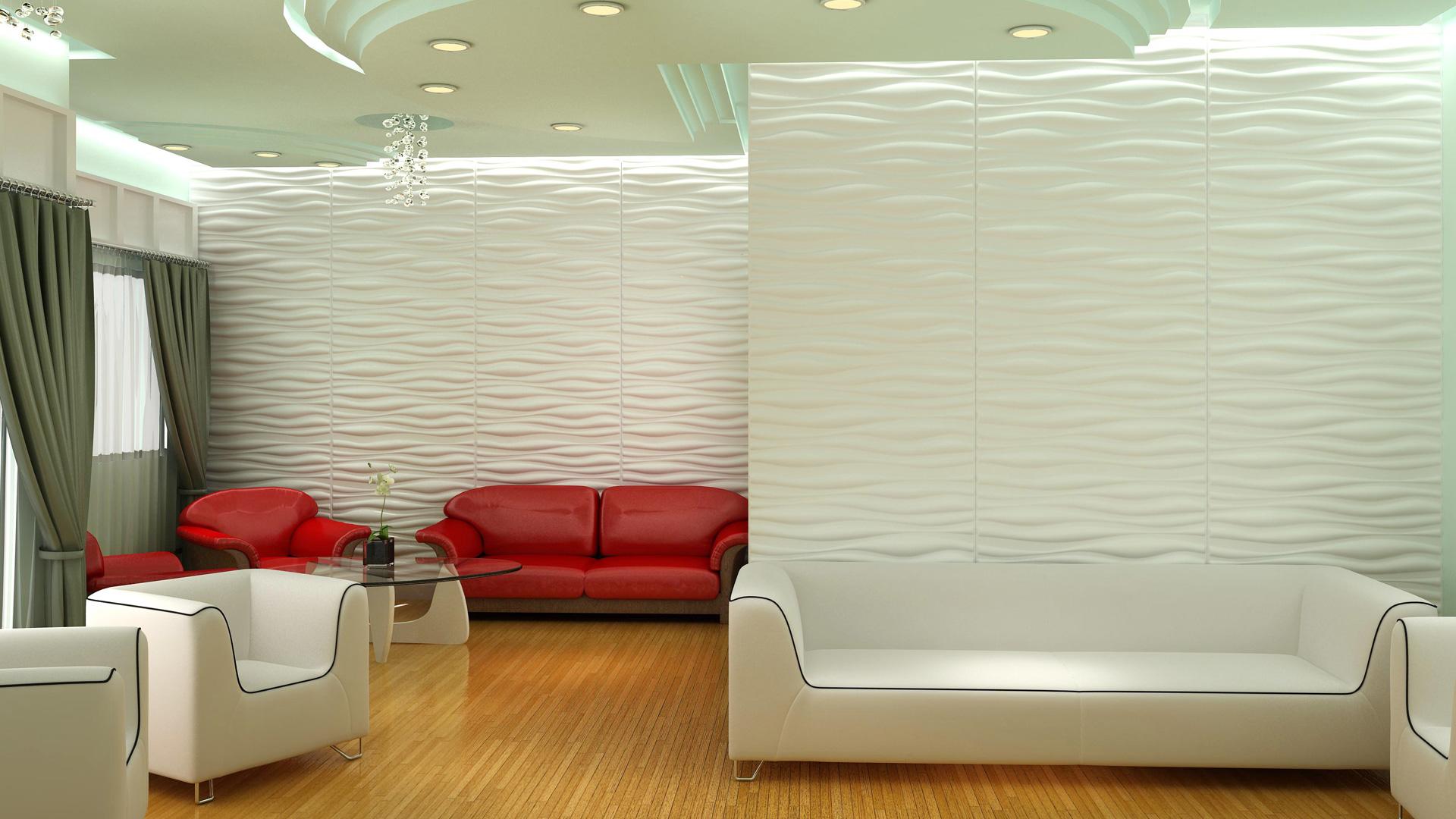 Wohnzimmer 3d wandpaneele deckenpaneele - Wandpaneele wohnzimmer ...