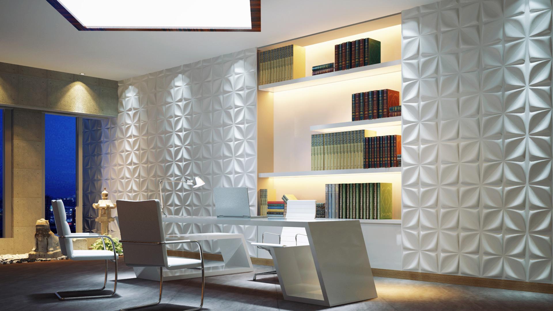 büro und besprechungsraum • 3d wandpaneele | deckenpaneele, Hause deko