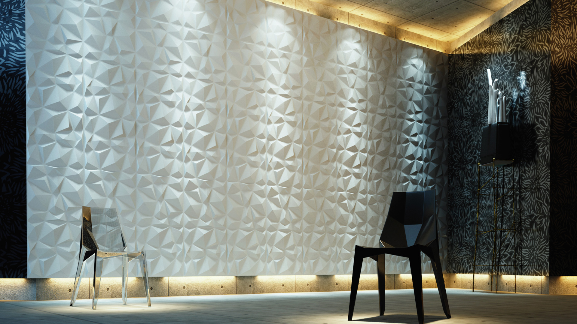 3D Wandpaneele - Produkte - Diamond - Deckenpaneele - 3D Tapeten - Wandverkleidung