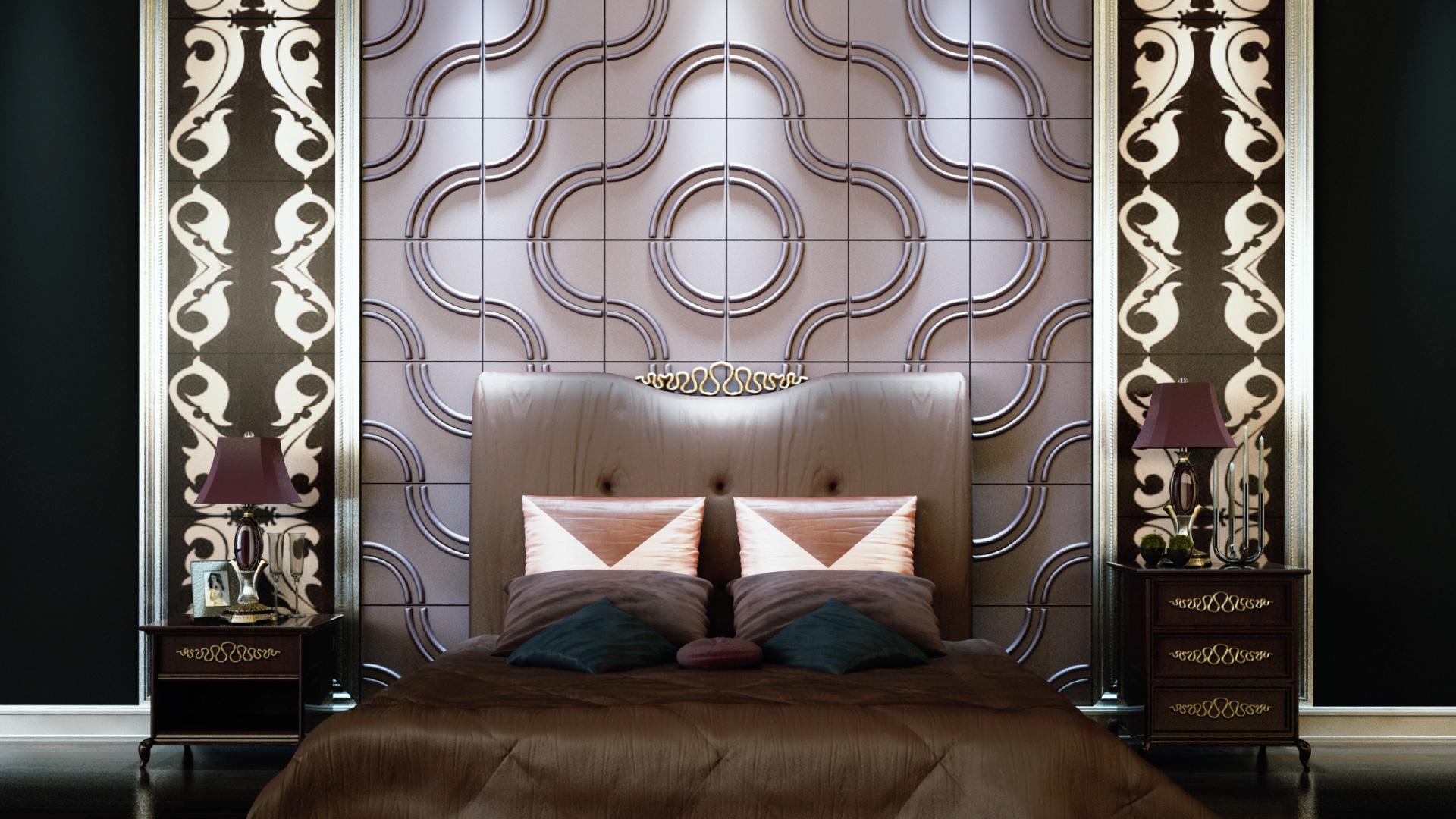 Schlafzimmer • 3D Wandpaneele | Deckenpaneele | Wandverkleidung aus ...
