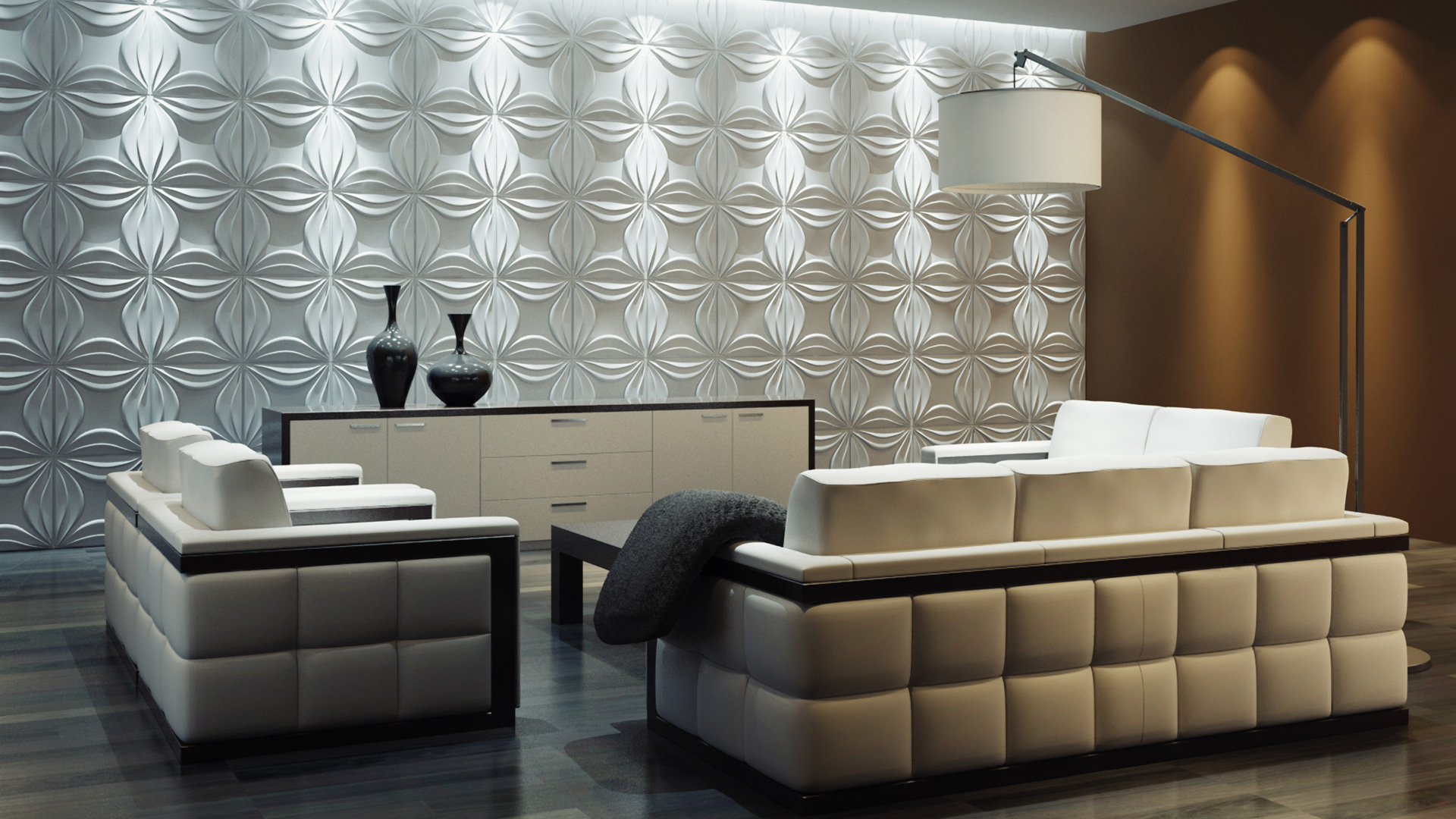 3D Wandpaneele - Produkte - Lily - Deckenpaneele - 3D Tapeten - Wandverkleidung