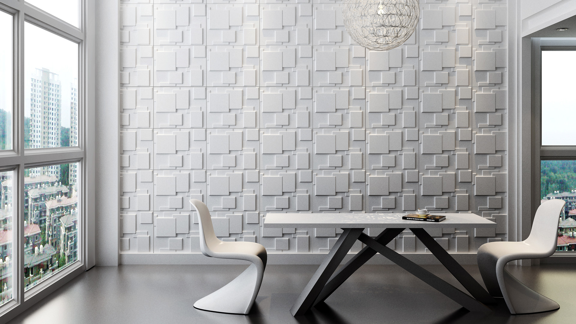 Tapeten küche ideen  Küche und Esszimmer • 3D Wandpaneele | Deckenpaneele ...