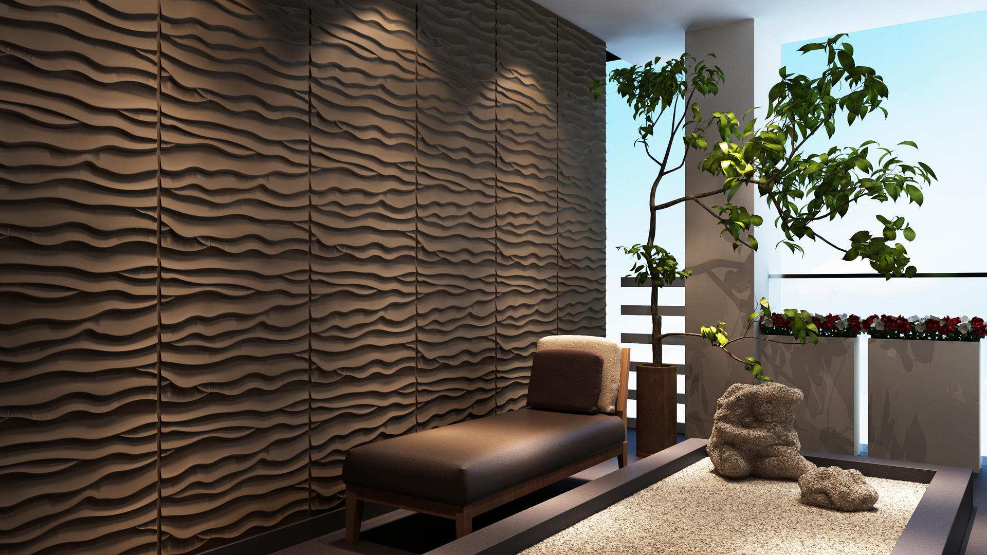 3D Wandpaneele - Beach - Deckenpaneele - 3D Tapeten