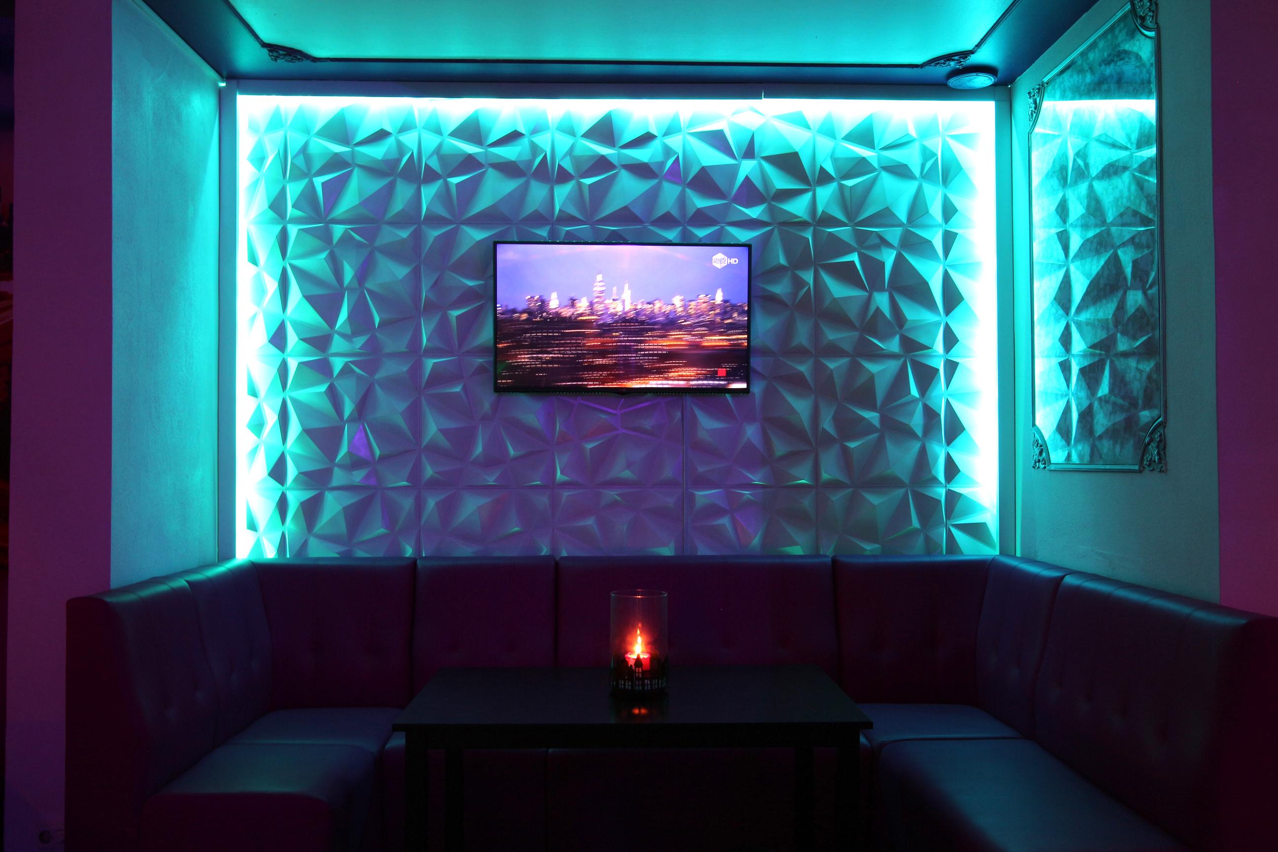 Soho Cocktailbar 3D Wandpaneele Deckenpaneele