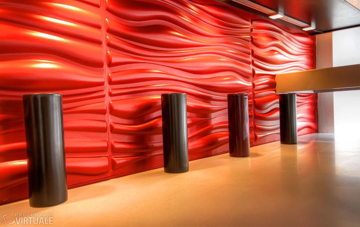 3D Wandpaneele - Referenzen - 3D Design Romania - Deckenpaneele - 3D Tapeten - Wandverkleidung - Verblender