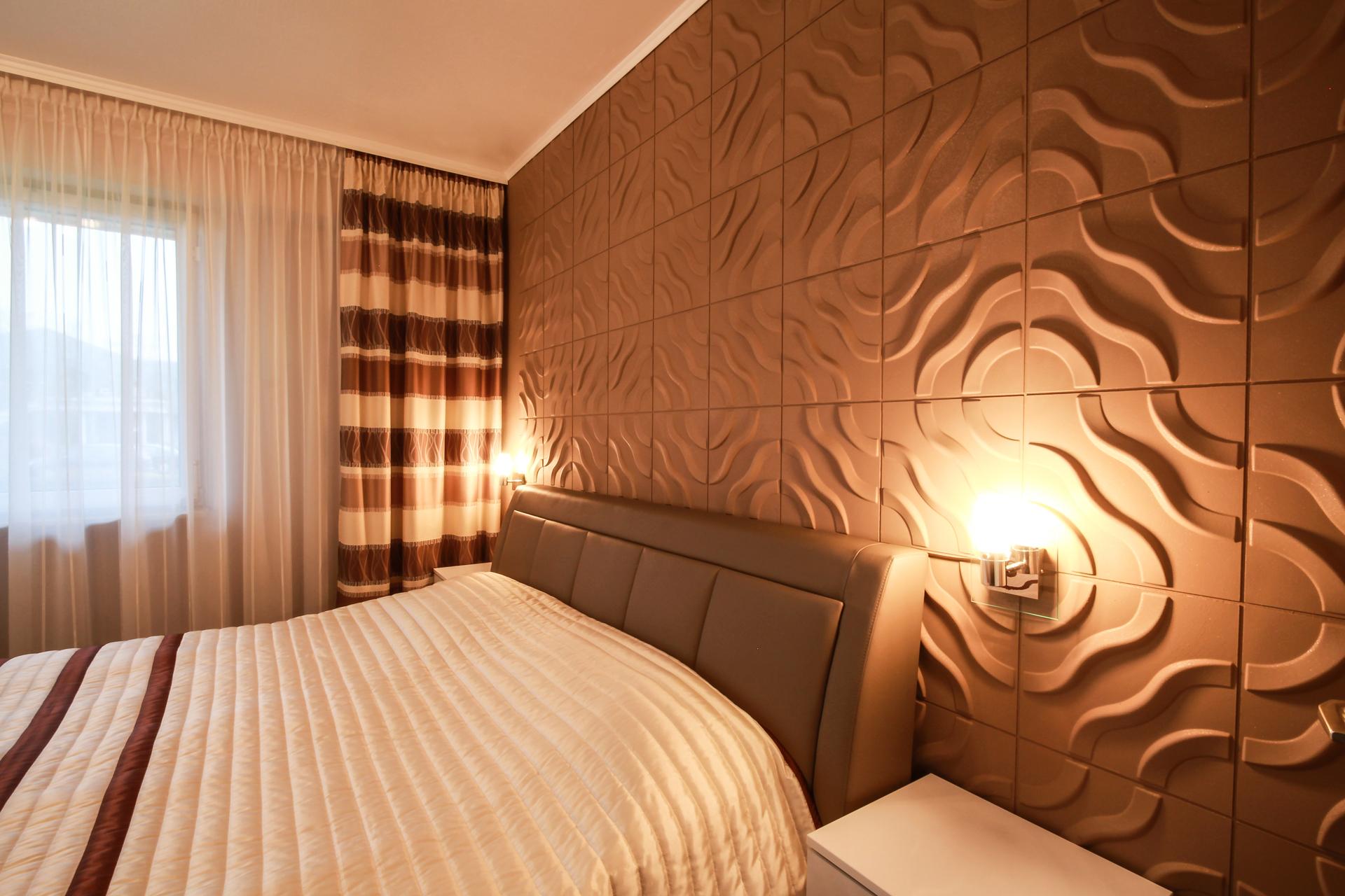 Wandverkleidung Modern Schlafzimmer Laminat In Grau Und Holz ...