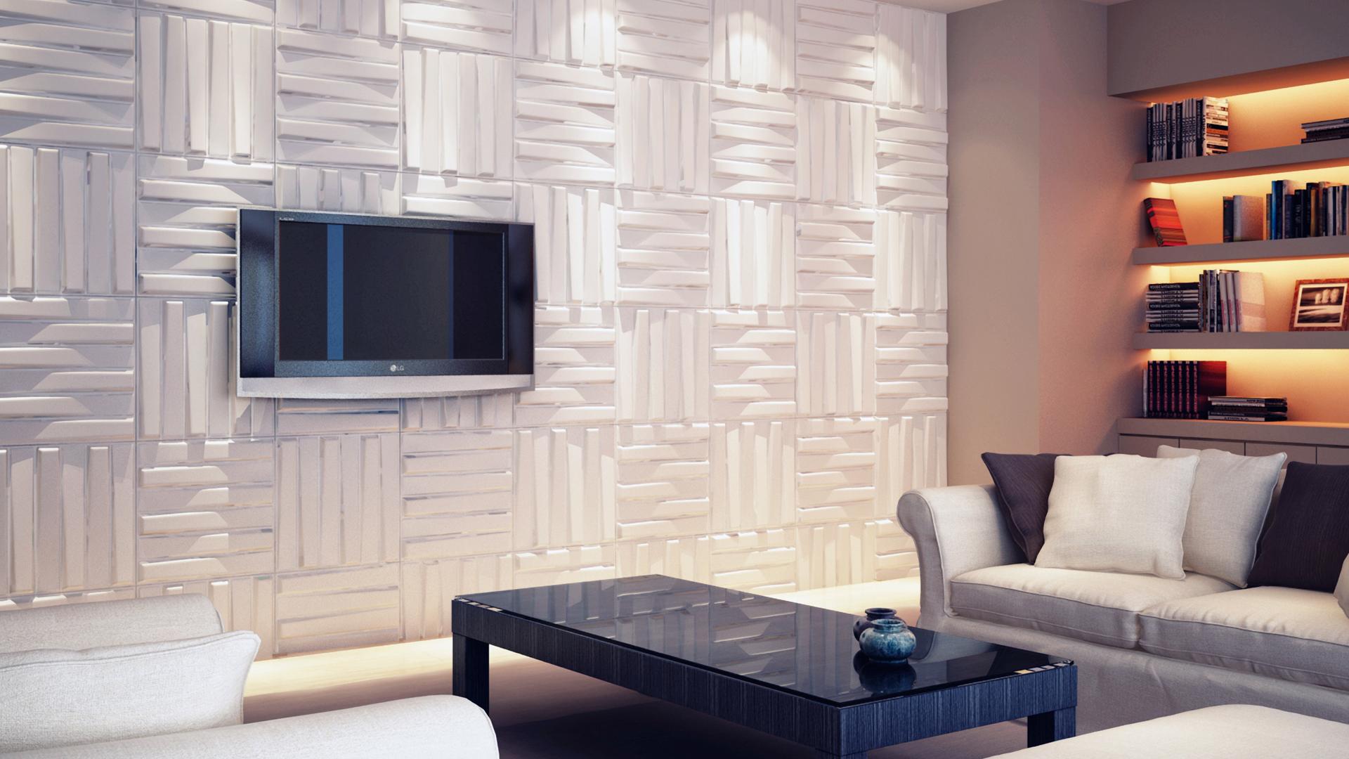 wohnzimmer • 3d wandpaneele | deckenpaneele | wandverkleidung aus, Hause deko