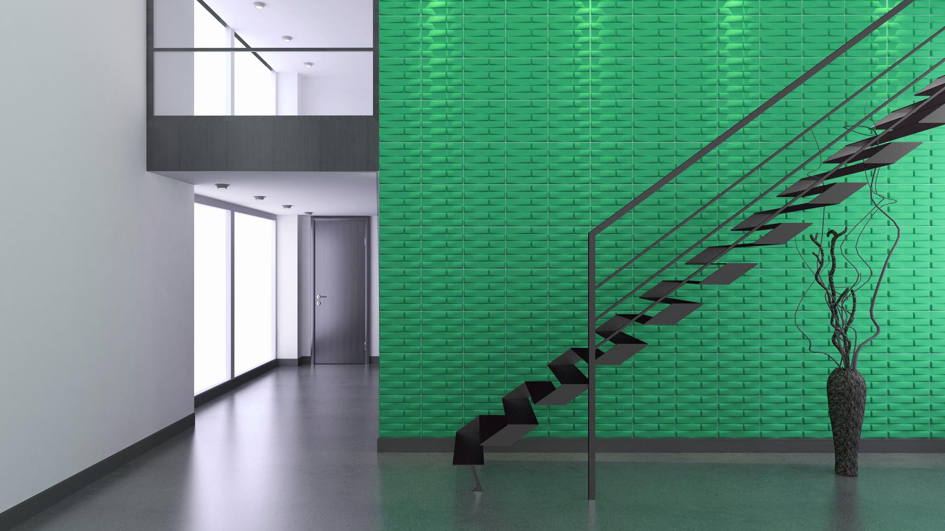 Flur und treppenhaus 3d wandpaneele deckenpaneele wandverkleidung aus bambus - Gestaltung treppenhaus bilder ...