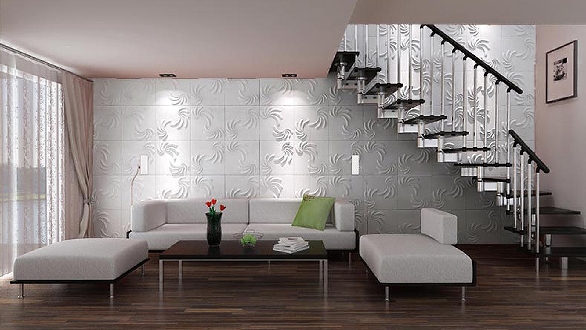 flur und treppenhaus • 3d wandpaneele | deckenpaneele, Innenarchitektur ideen