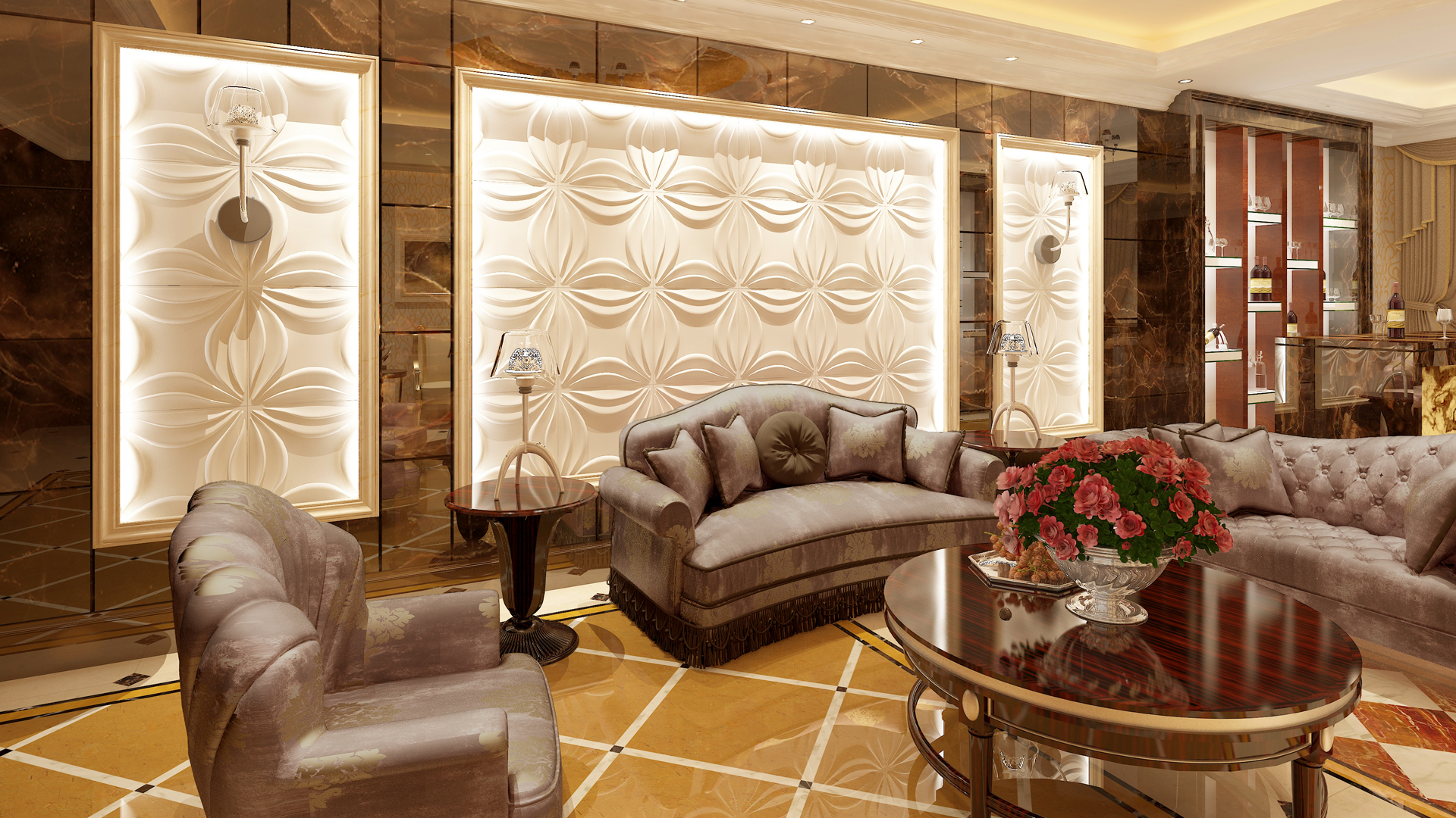 Wohnzimmer Paneele, wohnzimmer • 3d wandpaneele | deckenpaneele | wandverkleidung aus bambus, Design ideen