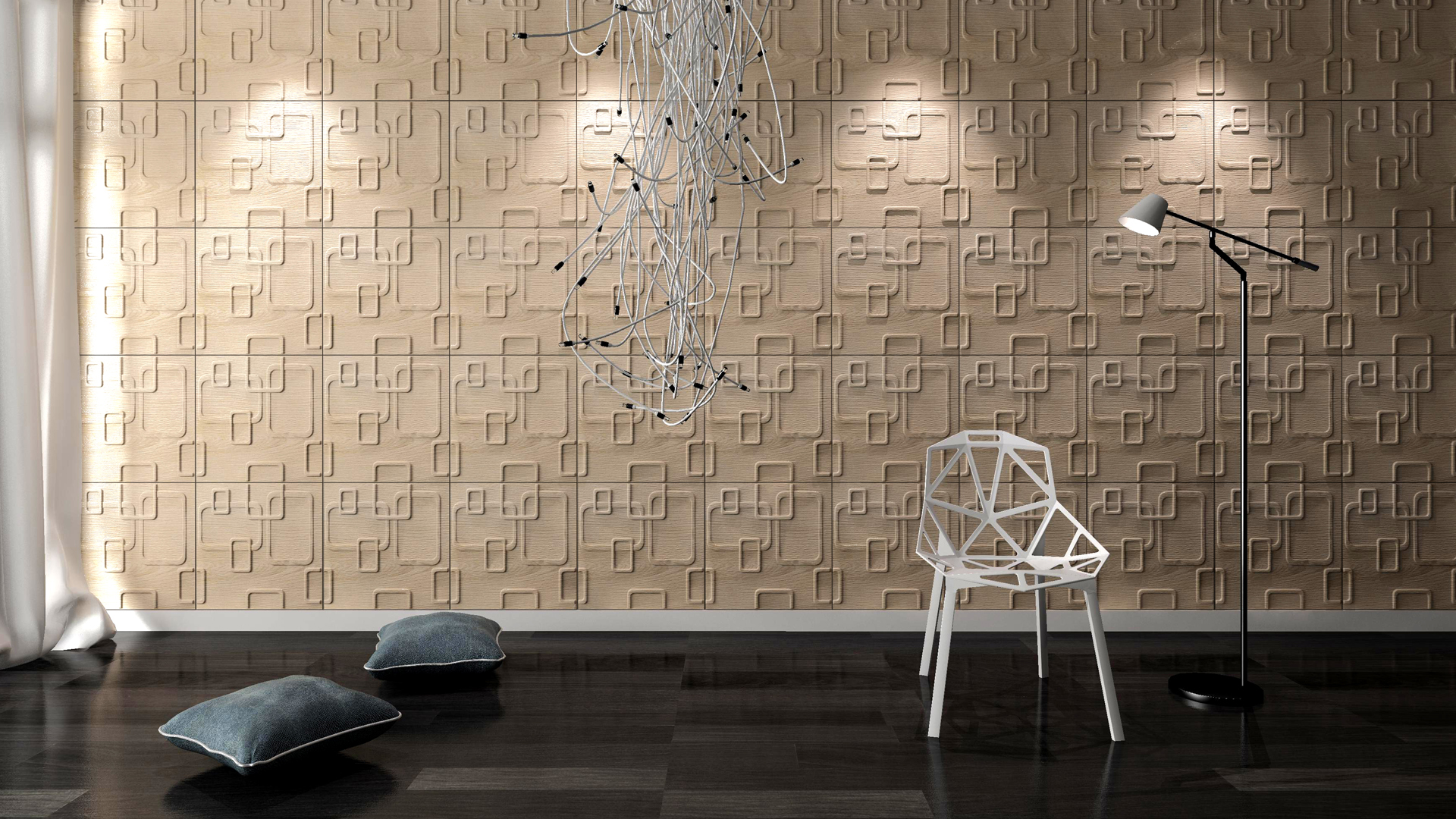 3D Wandpaneele - Produkte - Olina - Deckenpaneele - 3D Tapeten - Wandverkleidung