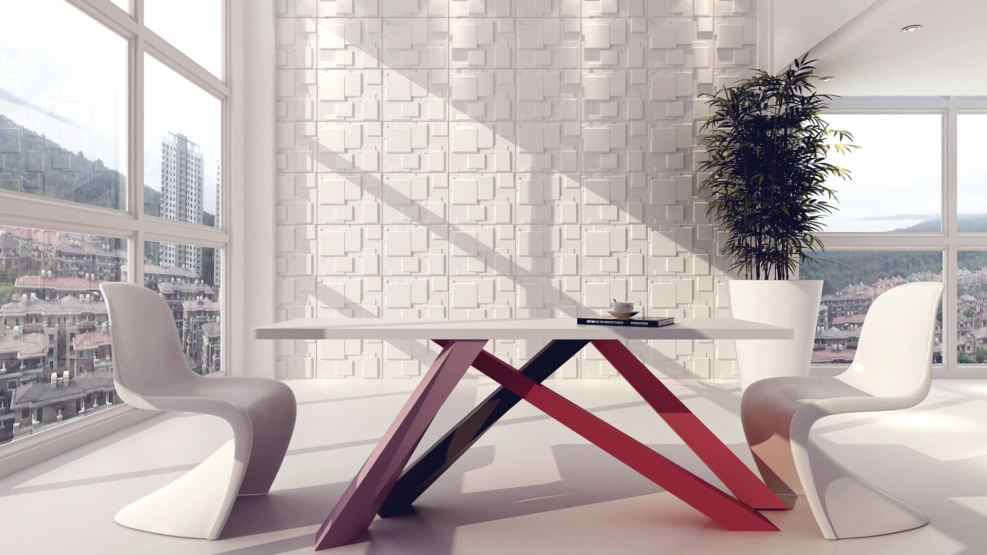 3D Wandpaneele - Choc - Deckenpaneele - 3D Tapeten - Verblender